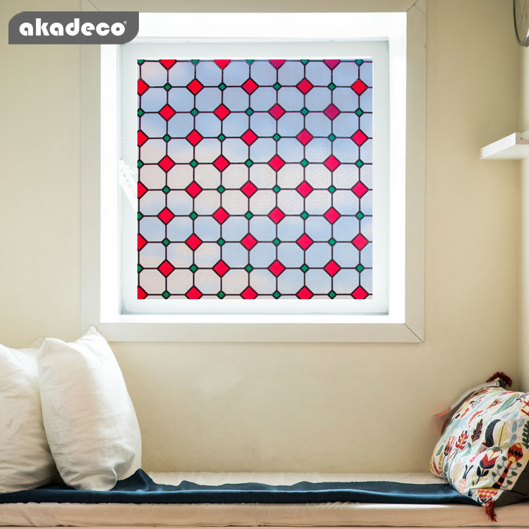 akadeco PVC window film wholesale stained glass window film for bathroom shower door