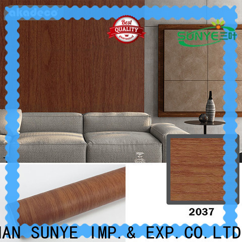 SUNYE vinyl wrap wood effect from China for sale