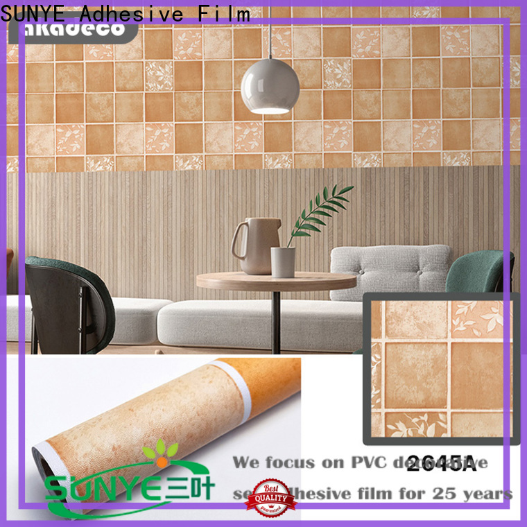SUNYE factory price PVC PRINTED SERIES ADHESIVE FILM factory direct supply bulk buy