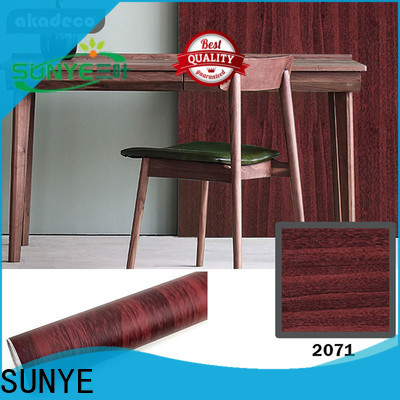 SUNYE wood like wallpaper factory direct supply for workshop