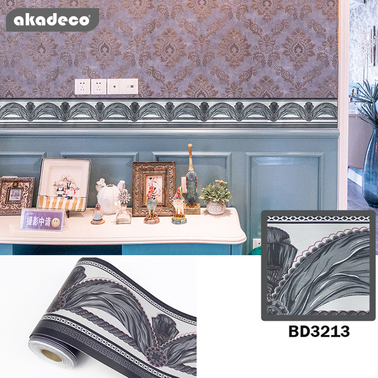akadeco border sticker tiles just peel and stick classic  10cm*10m*0.08mm