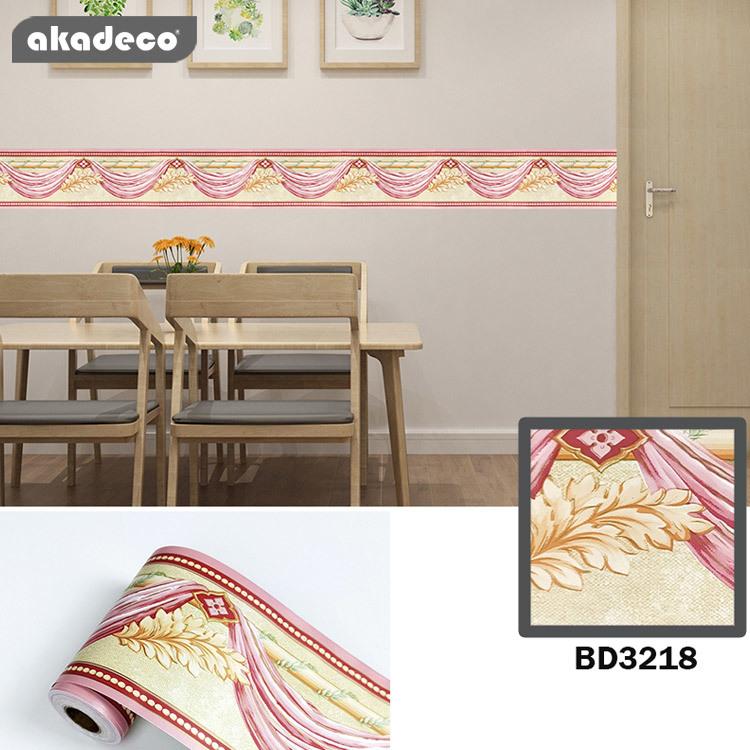 akadeco border stickerdesign PVC material 10cm*10m*0.08mm water-proof moisture-proof