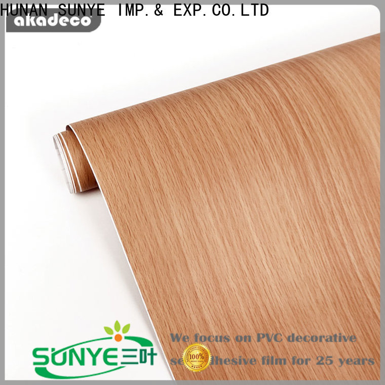 SUNYE latest peel and stick wood ceiling from China for electrical room