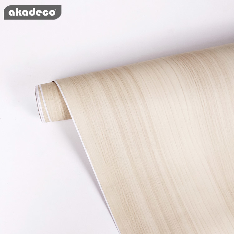 akadeco wood film factory price high quality waterproof for interior decor