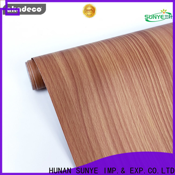 high quality self adhesive wood film best supplier for secretary room