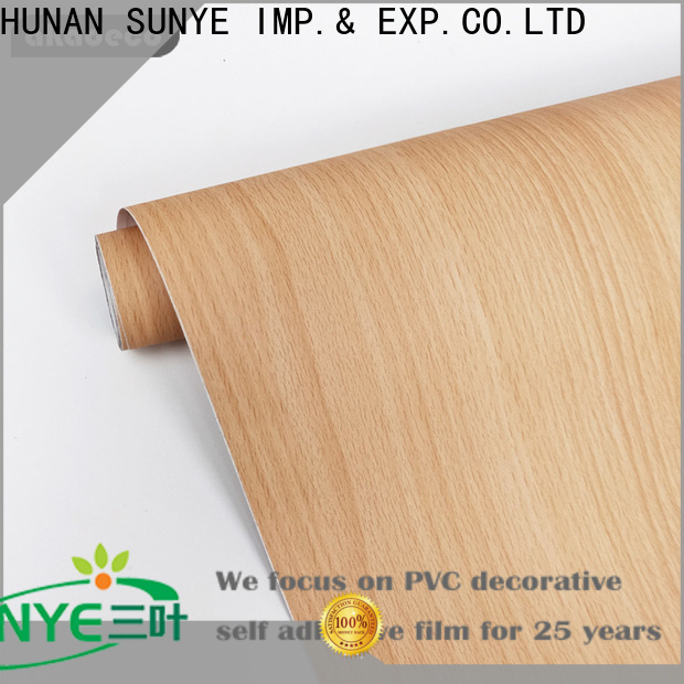 SUNYE wood look contact paper supplier for workshop