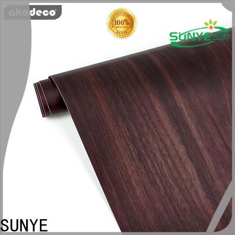 SUNYE self adhesive wood film from China for sale