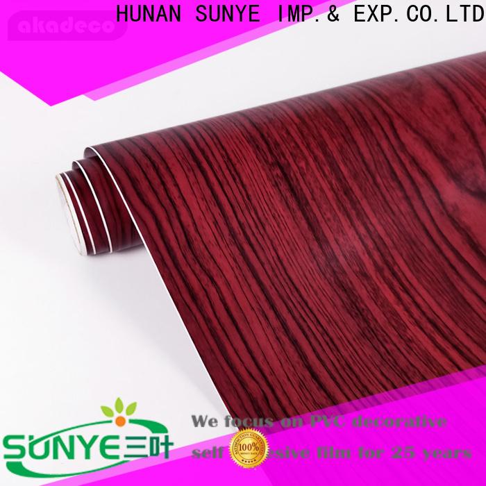 SUNYE wood grain wallpaper supply for workshop