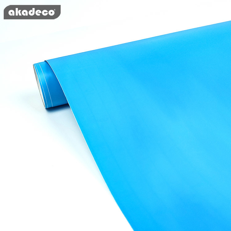 akadeco PVC plain color film for furniture for wall decor