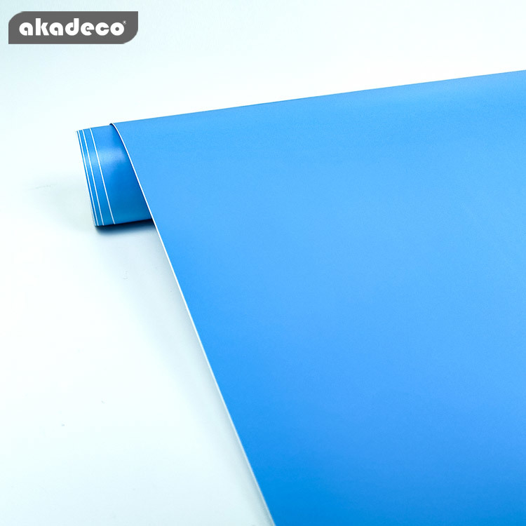 akadeco PVC plain color self adhesive film for furniture decor water-proof