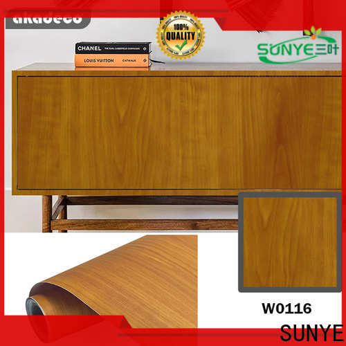 SUNYE contact paper wood grain suppliers for dining room