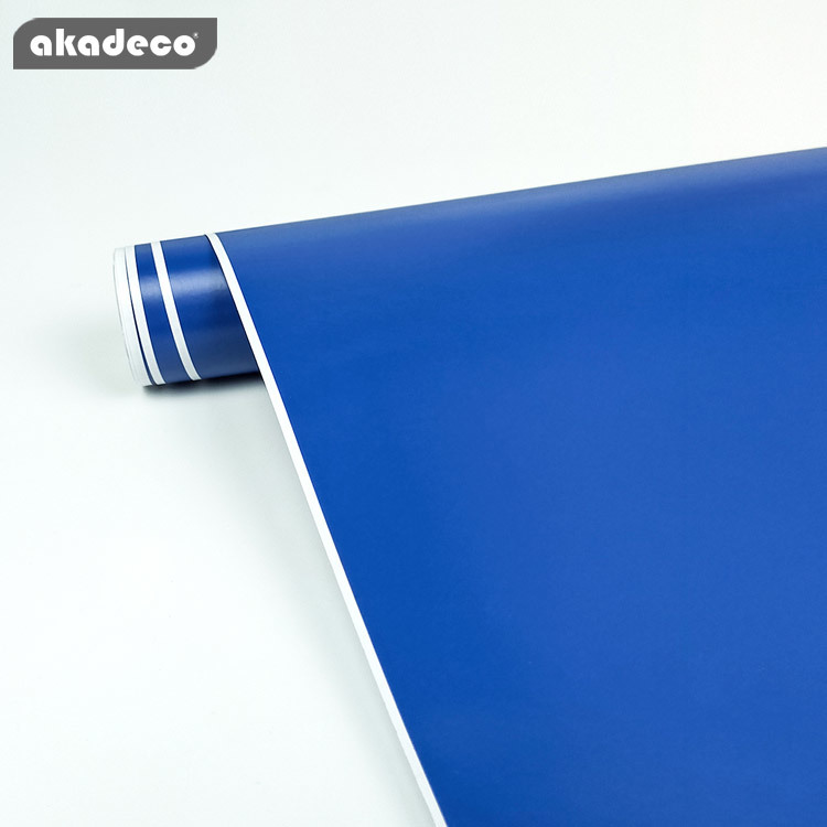akadeco self adhesive plain design blue classic color water-proof