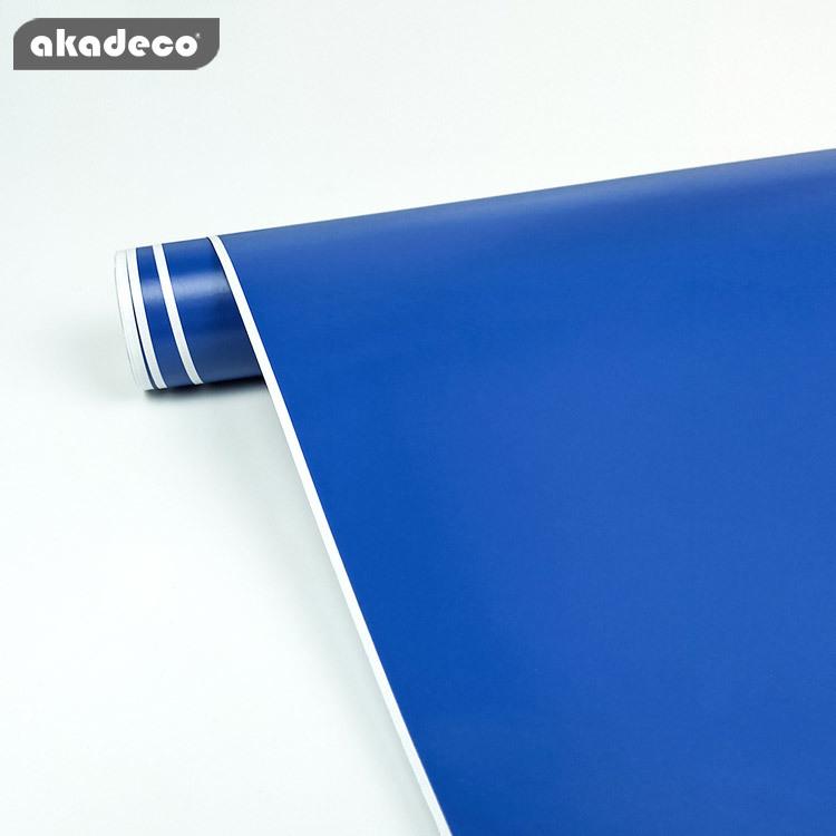 akadeco self adhesive plain design blue classic color water-proof