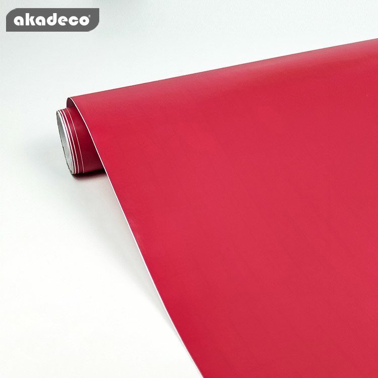 PVC solid color film for furniture decor popular red color moisture-proof