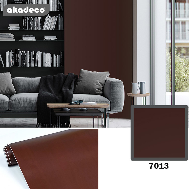 solid color wallpaper high quality waterprooffor furniture covering 7013