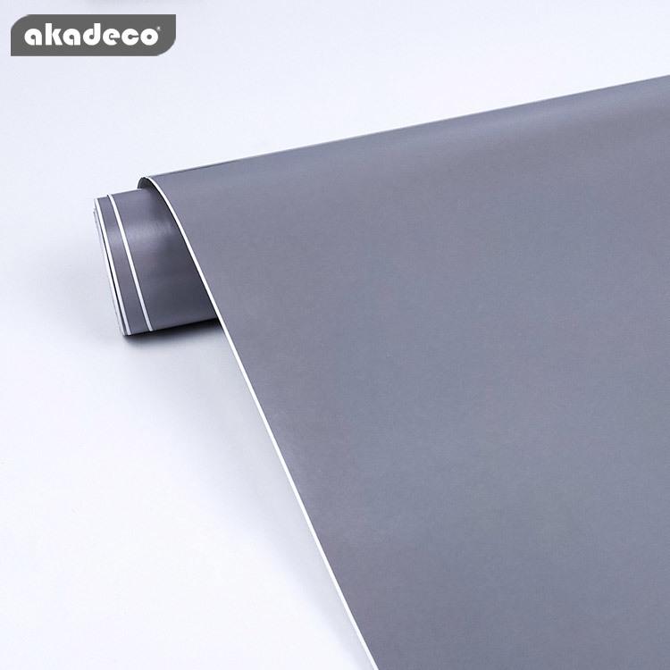 akadeco gray color self adhesive film popular home decoration 7022