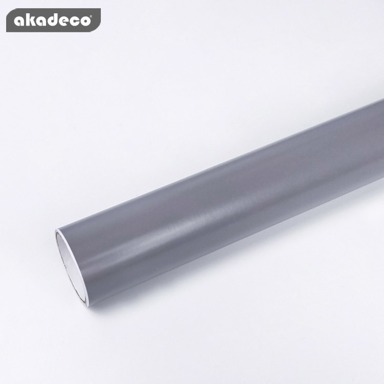 akadeco gray color self adhesive film popular home decoration 7022