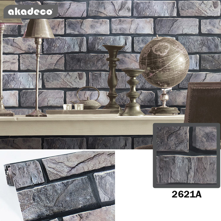 akadeco  pvc brick pattern new style decorative paper simple style for wall renovation