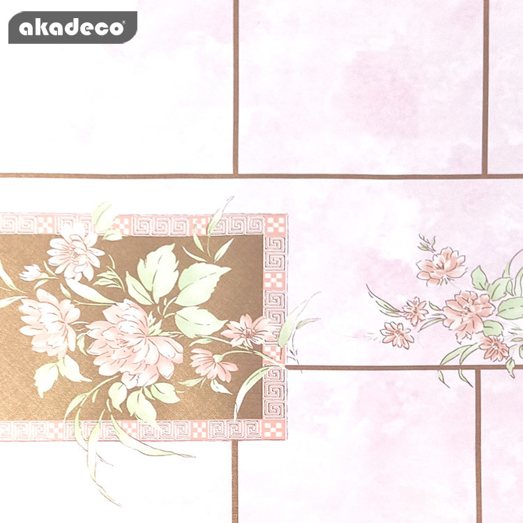 self adhesive pvc print wallpaper roll for home decoration wholesale price