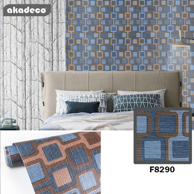 akadeco printed flower hot selling beautiful waterproof home decoration F8290