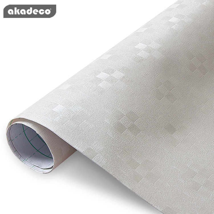 akadeco PVC wallpaper popular lozenge texture frosted effect water-proof 92009