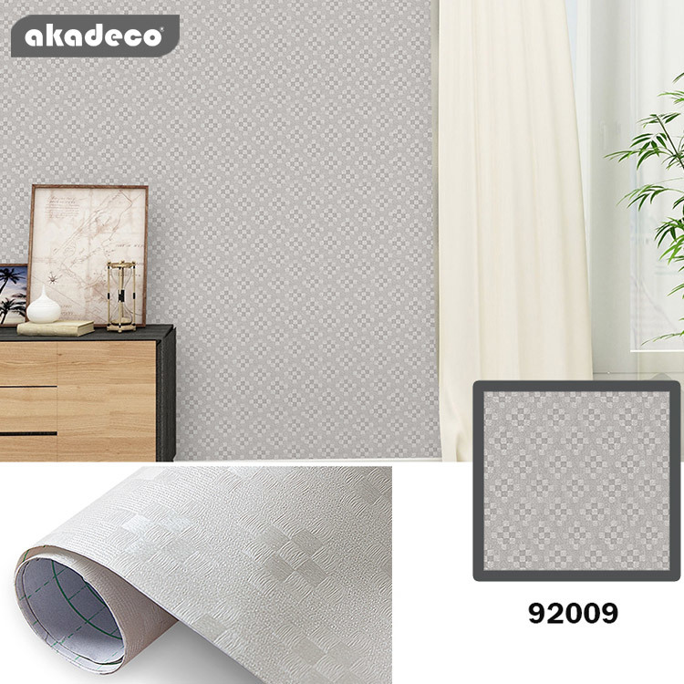 akadeco PVC wallpaper popular lozenge texture frosted effect water-proof 92009