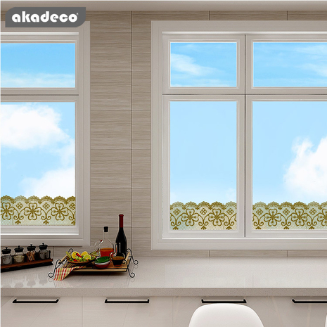 akadeco top selling self adhesive border film for glass decoration