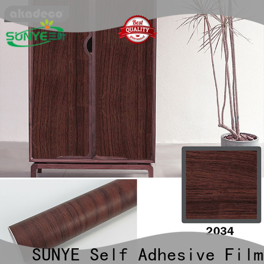 SUNYE vinyl wood effect suppliers for furniture