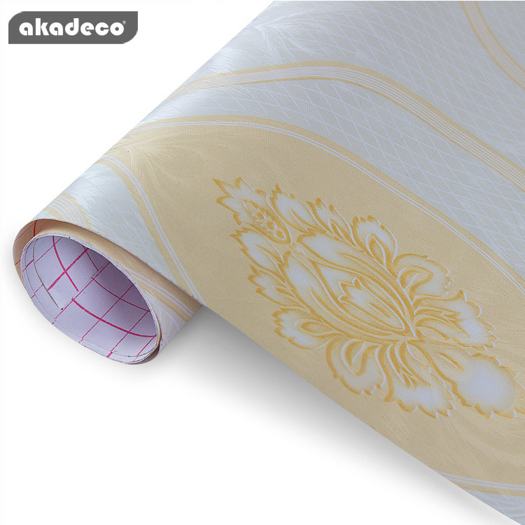 akadeco new wallpaper design classic texture for home decoration 91014