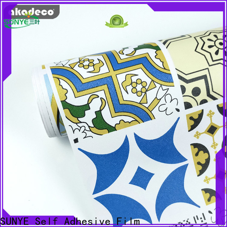 SUNYE pvc wallpaper suppliers from China for school