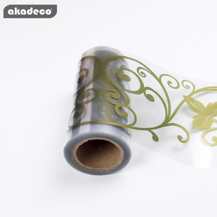 akadeco bopp transparent  border film decor new design for bathroom decor
