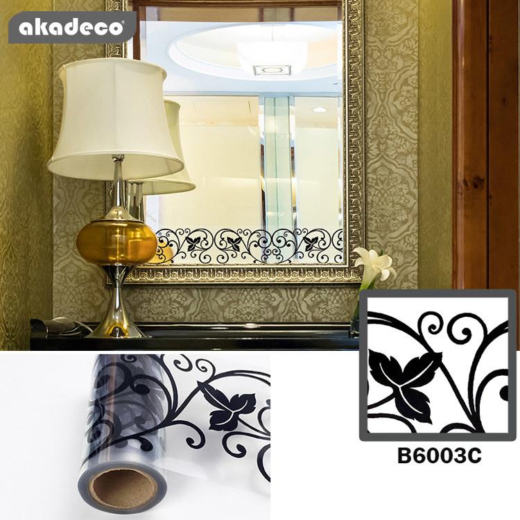 akadeco BOPP transparent border sticker for window mirror decor