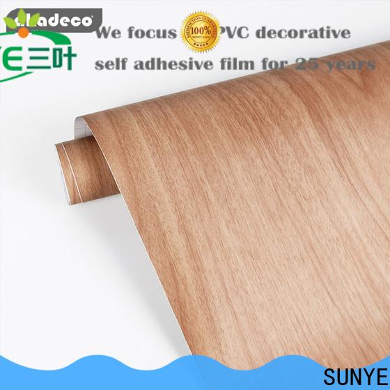 SUNYE hot selling wood effect paper company for workshop