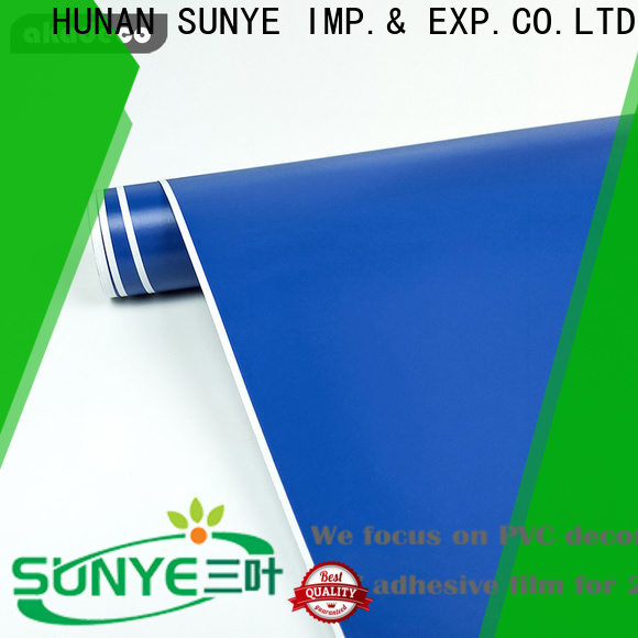 SUNYE solid color contact paper from China for control room
