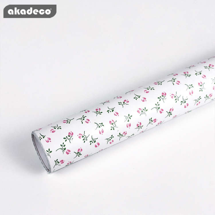 PVC printed flower self adhesive decorative film high quality waterproof film for interior decor