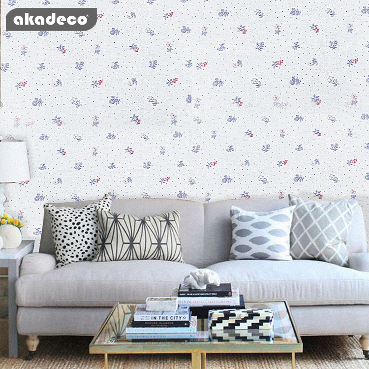 PVC printed beauty flower self adhesive wallpaper for home decoration F8022D