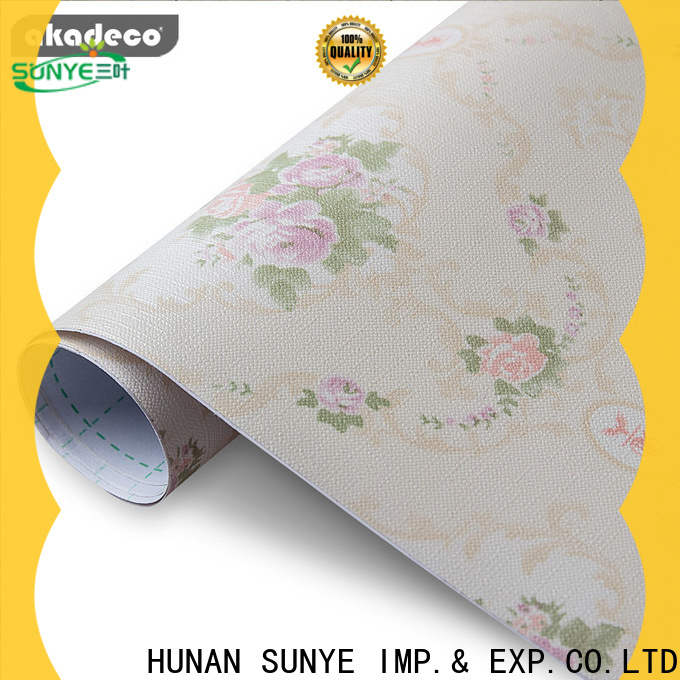 SUNYE factory price paper backed vinyl wallpaper directly sale bulk production