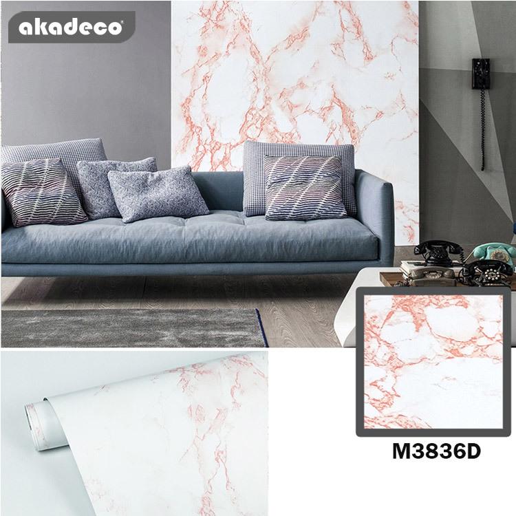 modern marble wall sticker moisture proof water proof M3836D