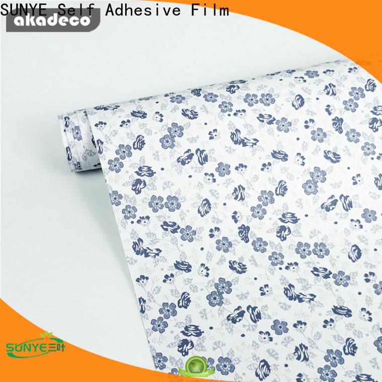 SUNYE top quality self adhesive pvc film best manufacturer bulk production