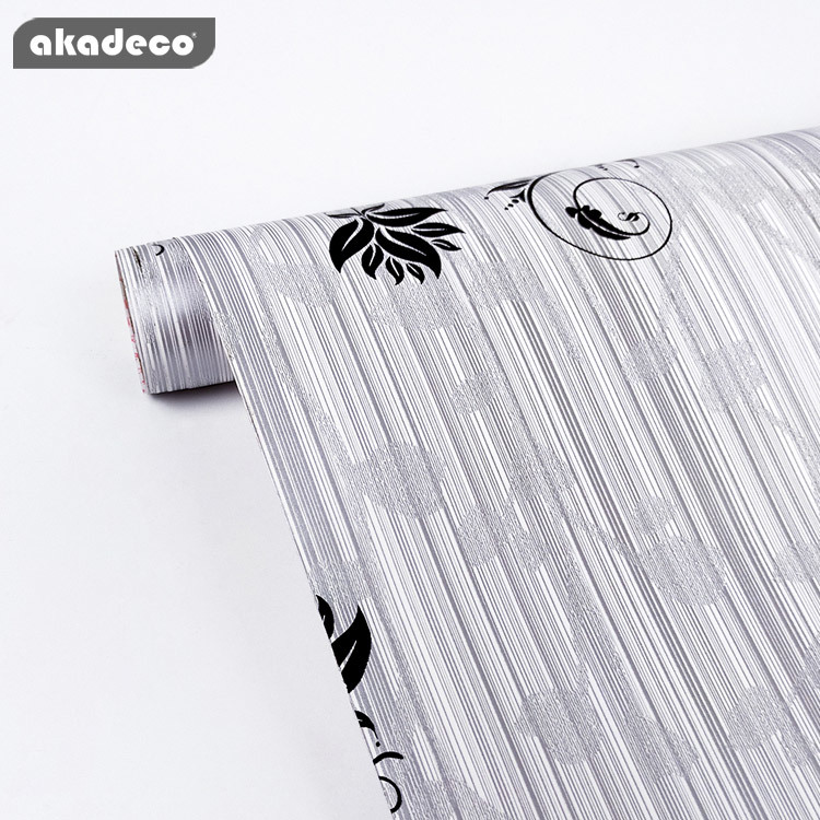 akadeco printed flower decorative film new patterns waterproof film for home decor PVC  self adhesive