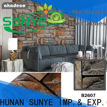 SUNYE plastic wall paper supplier for utility room
