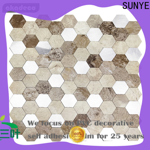 SUNYE quality glass and stone mosaic tile best supplier for sale