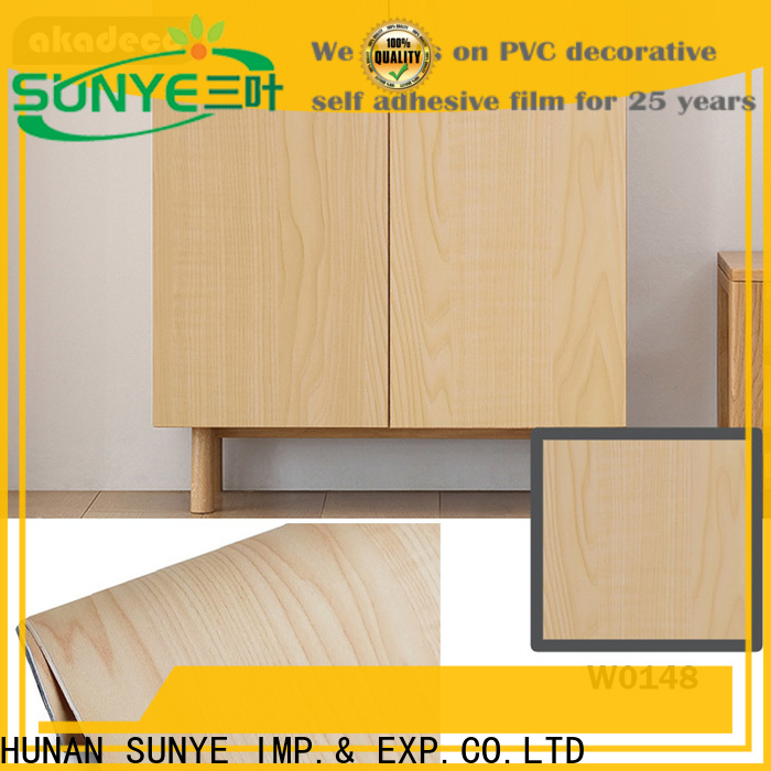 SUNYE peel and stick wood ceiling supplier for electrical room