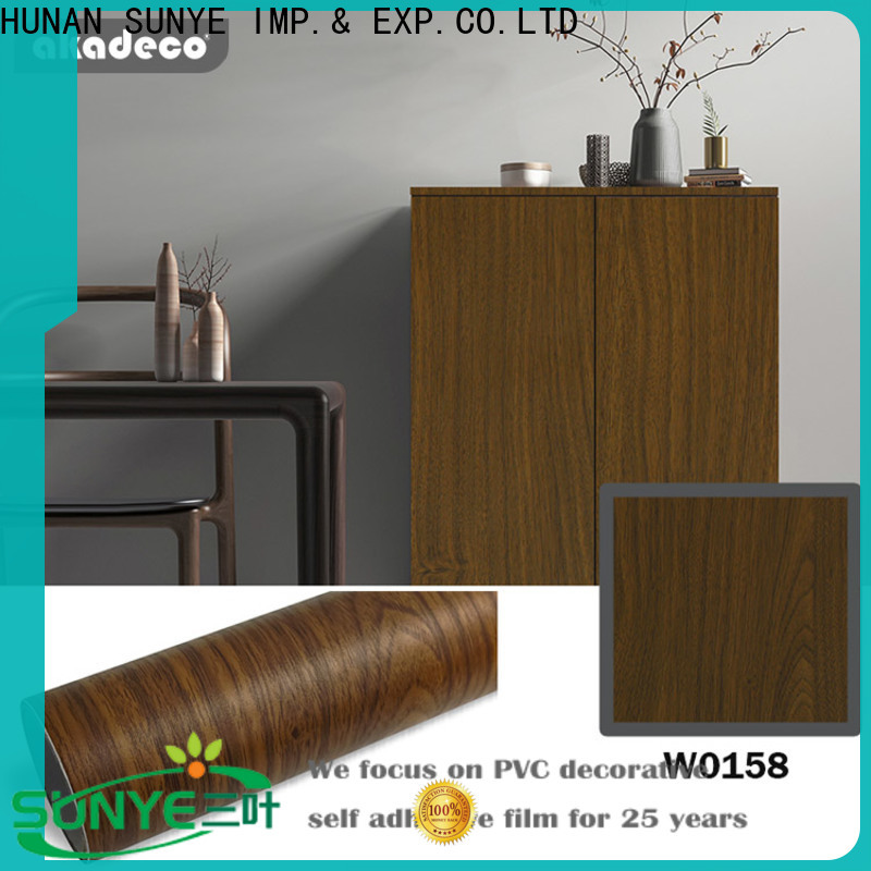 SUNYE rustic wood contact paper supplier for switch room