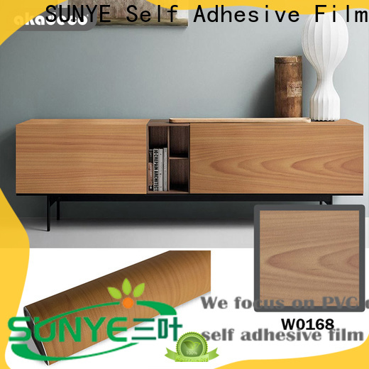 SUNYE self adhesive wood film inquire now bulk production