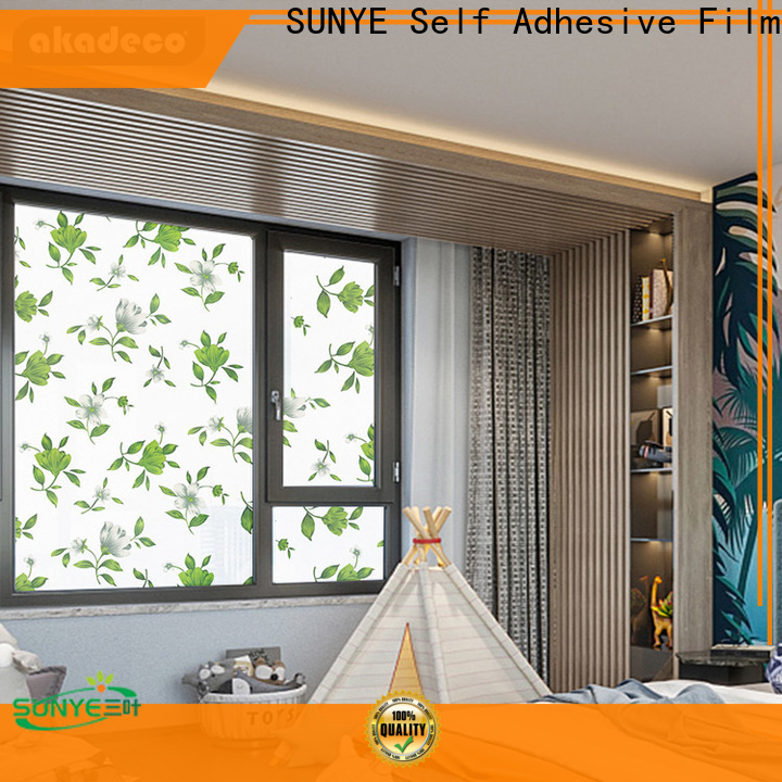 SUNYE high quality vinyl window film directly sale for restaurant