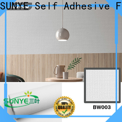 SUNYE hot selling solid removable wallpaper factory for control room