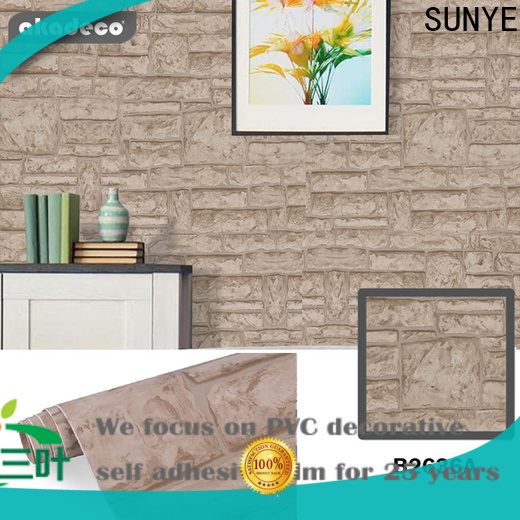 SUNYE hot selling contact paper wallpaper factory direct supply bulk production