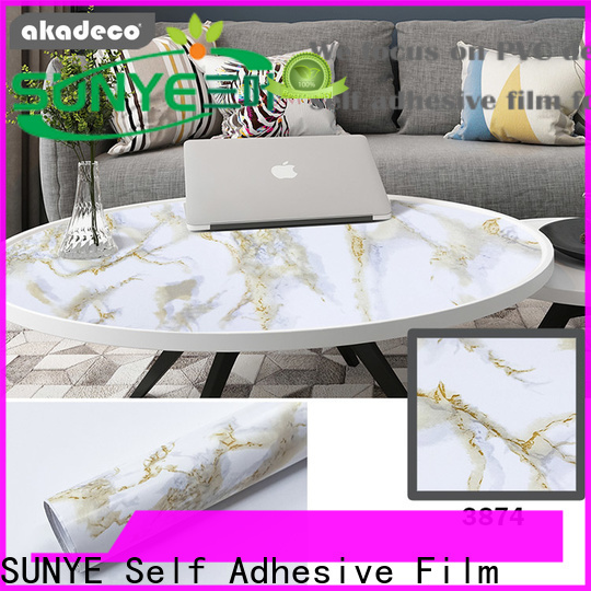 SUNYE high-quality marble effect contact paper factory bulk production
