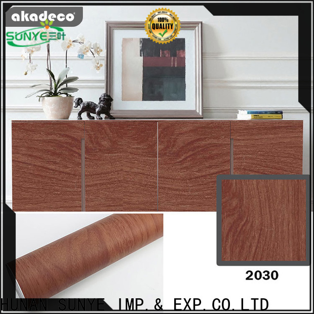best value adhesive wood grain from China for switch room